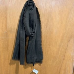 New Burberry Lightweight Brown Cashmere Scarf
